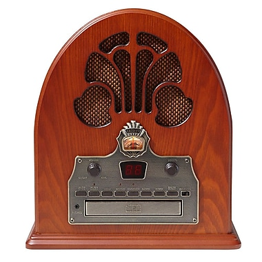 Crosley CR32CD Cathedral Retro AM/FM Radio and CD Player with Full-Range Stereo Speakers