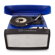 Crosley CR6010A-BL 3-Speed Collegiate Portable USB-Enabled Turntable, Blue