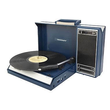 Crosley CR6016A-BL Spinnerette Portable USB Turntable with Software for Ripping and Editing Audio, Blue