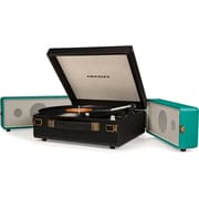 Crosley CR6230A-TU Snap Portable USB Turntable with Software for Ripping & Editing Audio, Black/Turquoise