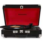 Crosley CR8005D-BK Cruiser Deluxe Portable 3-Speed Turntable with Bluetooth, Black