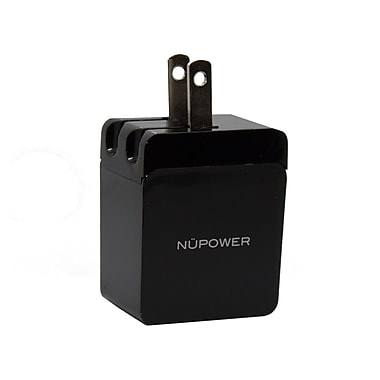 NUPOWER USB Wall Charger, 2.4 A (NU2111BK)
