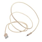 NUPOWER Sync & Charge Braided Cable, Lightning/USB, 1.2m, Gold (NU2129BRGD)