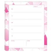 """Post-it® Printed Personal Calendar,  6 1/2"""" x 7.8"""", Pink (7378-AQUA)"""