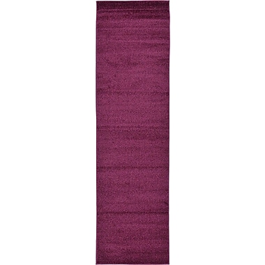 Alcott Hill Sellman Violet Area Rug; Runner 2'7'' x 9'10''