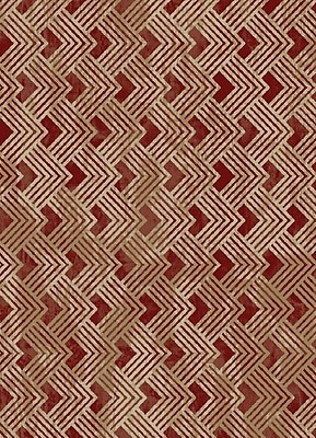 Rugs of Dalton New York Pyramid Red Area Rug
