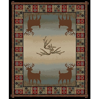 Mayberry Rug Hearthside Open Range Deer Lodge Multi Area Rug; 7'10'' x 9'10''