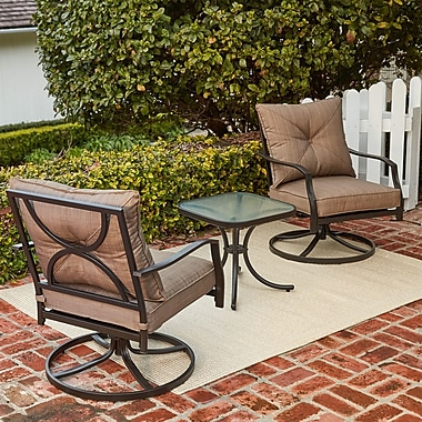 Hanover Palm Bay 3 Piece 2 Person Deep Seating Group w/ Cushions