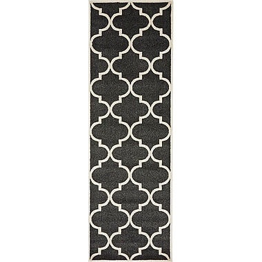 Alcott Hill Emjay Black Area Rug; 5' x 8'