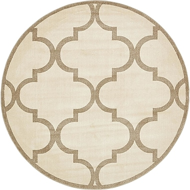 Alcott Hill Emjay Beige Area Rug; Round 8'