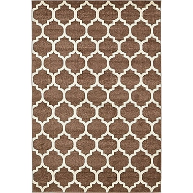 Alcott Hill Emjay Light Brown Area Rug; 6' x 9'