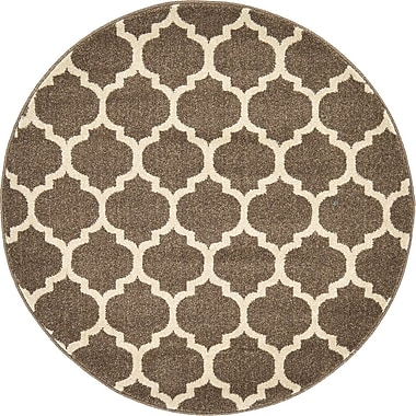 Alcott Hill Emjay Light Brown Area Rug; Round 3'3''