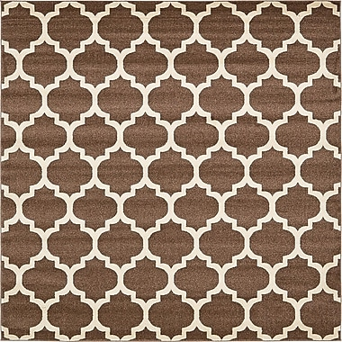 Alcott Hill Emjay Light Brown Area Rug; Square 8'