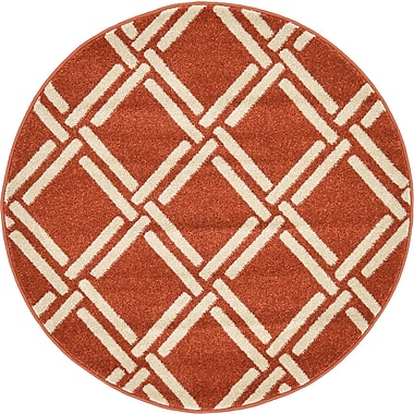 Bay Isle Home Seagate Rust Red Area Rug; 3'3'' x 5'3''