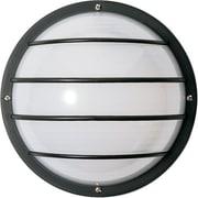Brayden Studio Hively 2-Light Outdoor Bulkhead Light; Black