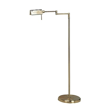 Alcott Hill FulkersonAdjustable 55'' Task Floor Lamp; Antique Brass