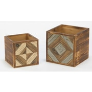 Tripar Geometric 2 Piece Decorative Box Set