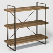 Tripar Large 3-Tier Raw Wood and Metal Shelf 47.25'' Etagere Bookcase