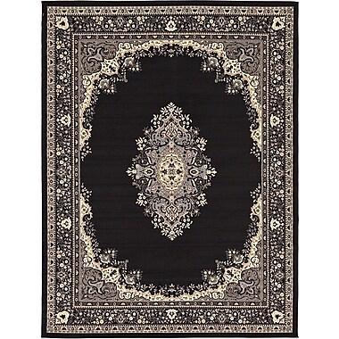 Astoria Grand Charlie Black Area Rug; 9'10'' x 13'