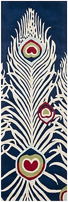 Bloomsbury Market Dorthy Blue/Ivory Rug; Runner 2'6'' x 8'