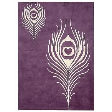 Bloomsbury Market Dorthy Purple & Ivory Area Rug; 2'6'' x 4'