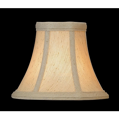 Red Barrel Studio 6'' Fabric Bell Lamp Shade; Beige
