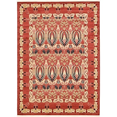 World Menagerie Sebou Rust Red Area Rug; 9' x 12'