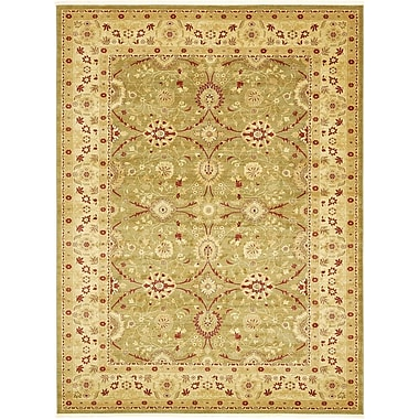 World Menagerie Sebou Light Green Area Rug; Round 6'