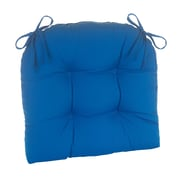 Klear Vu Indoor/Outdoor Patterned Extra Large Lounge Chair Cushion; Marine Blue