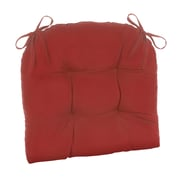Klear Vu Indoor/Outdoor Patterned Extra Large Lounge Chair Cushion; Solid Red