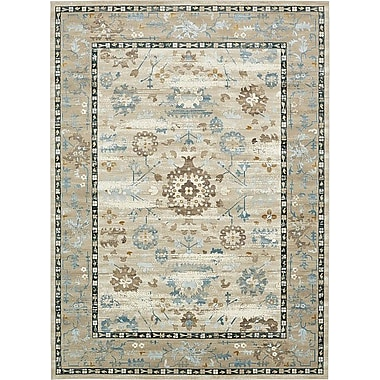 World Menagerie Miara Beige Area Rug; 3' x 10'