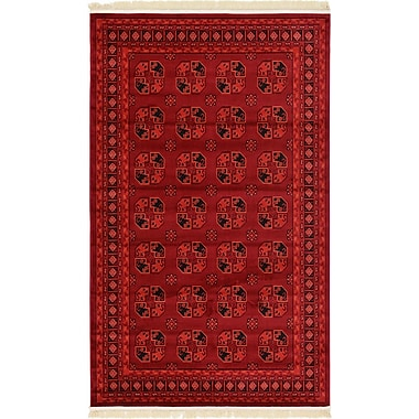 World Menagerie Kowloon Red Area Rug; 5' x 8'