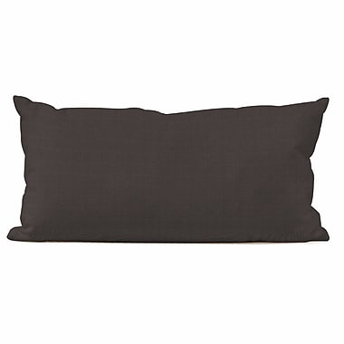 Breakwater Bay Ismene Outdoor Sunbrella Lumbar Pillow; Seascape Charcoal