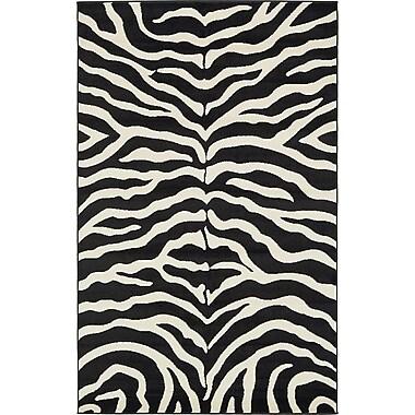World Menagerie Leif Black Area Rug; 5' x 8'