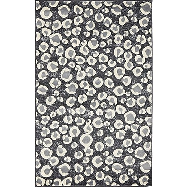 World Menagerie Leif Dark Gray Area Rug; 7' x 10'
