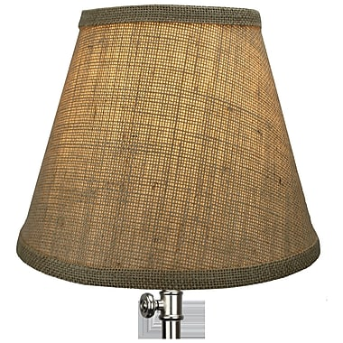 Fenchel Shades 9'' Linen Empire Lamp Shade; Natural
