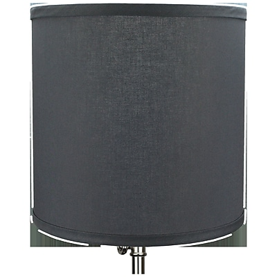 Fenchel Shades 10.5'' Linen Drum Lamp Shade; Graphite
