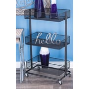 Cole & Grey Metal Tray Stand Bar Cart