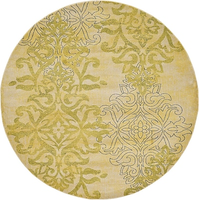 Darby Home Co Baytown Cream Area Rug; Round 8'