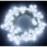 The Holiday Aisle 100 Light Globe String Lights; White