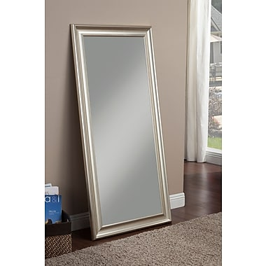 Willa Arlo Interiors Modern Full Length Leaning Mirror; Champagne Silver