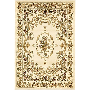 Charlton Home Oskar Cream Area Rug; 3'3'' x 5'