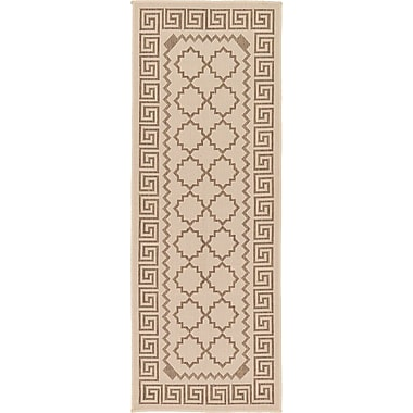 Charlton Home Georgianna Beige Outdoor Area Rug; Runner 2'2'' x 6'