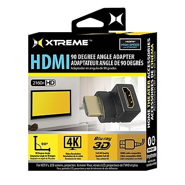 Xtreme Cables 90-Degree HDMI Adapter, Black (XAD1-1019-BLK)