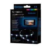 Bandelette d'éclairage d'ambiance à DEL de CJ Tech pour téléviseur, 6 pi (72266)