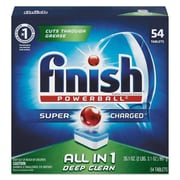 Finish® Powerball Dishwasher Tablets, 54 Tablets