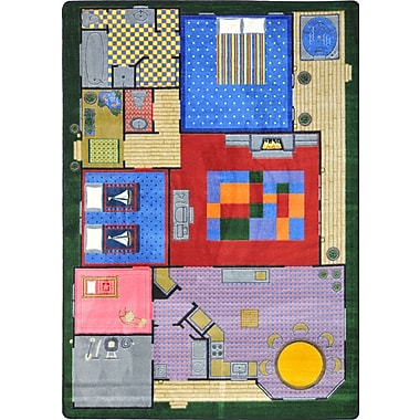 Joy Carpets – Tapis Creative Play House, 7 pi 8 po x 10 pi 9 po, couleurs variées
