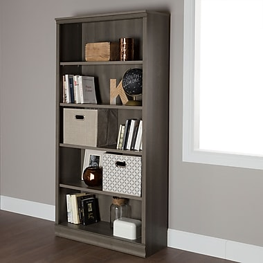 South Shore Morgan 5-Shelf Bookcase, Gray Maple (10154)