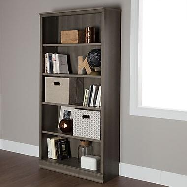 South Shore Morgan 5-Shelf Bookcase, Gray Maple (10154)