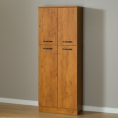 South Shore Axess 4-Door Storage Pantry, Country Pine (10103)